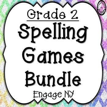 Second Grade Spelling Games Bundle
