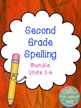 Second Grade Spelling List and Activities Bundle (All 6 Units)