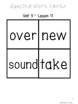 Second Grade Spelling List and Activities - Unit 3