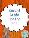 Second Grade Spelling List and Activities - Unit 4