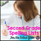 Second Grade Spelling Lists