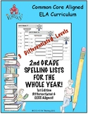 2nd Grade Spelling Lists for the Whole Year! (1st Edition)