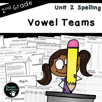 Second Grade Spelling-Unit 2 (over 100 editable items, Common Core aligned)