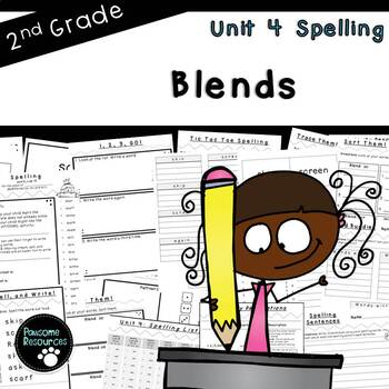 Second Grade Spelling-Unit 4 (over 100 editable items, Common Core aligned)