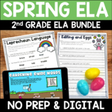 Spring Digital & Printable ELA Activities Bundle for 2nd Grade