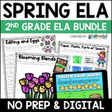 Spring Digital & NO PREP Printable ELA Activities Bundle f