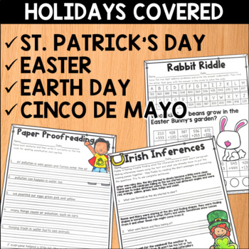 Spring Literacy and Math Mega Bundle for Second Grade