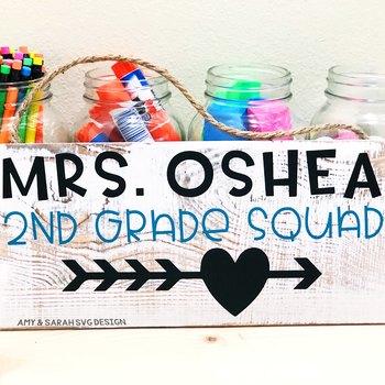Second Grade Squad SVG Design