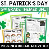 St. Patricks Day Digital & NO PREP Printable Math & ELA Ac