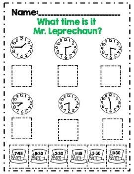 Second Grade St.Patrick's Day Math Activity Set *Common Core Aligned*