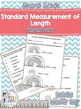 Second Grade Standard Units of Measurement Assessment