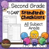 "Second Grade Standards Checklists for All Subjects  - ""I Can"""