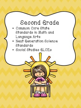 Second Grade Standards Collection for a Binder