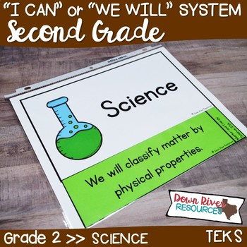 Second Grade Streamlined Science TEKS I Can Statements
