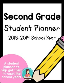 Second Grade Student Planner Humble ISD 2018-2019 School Year