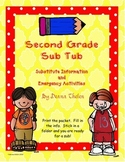 Second Grade Sub Folder With Emergency Activities