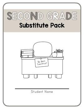 Second Grade Sub Packet- No Prep!