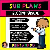 Second Grade Sub Plans