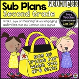 Second Grade Sub Plans, A Bag of Tricks for When You Are Sick