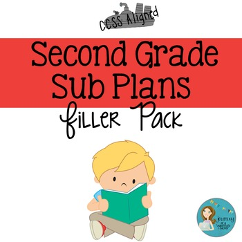 Second  Grade Sub Plans Filler Pack