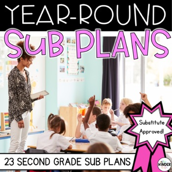 Second Grade Sub Plans for the Entire Year BUNDLE Distance Learning