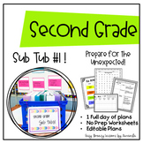 Second Grade Sub Tub #1! Full Day! (No Prep Substitute Plans)