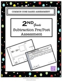 Second Grade Subtraction Pre and Post Assessment