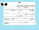 Second Grade Summer Activity Calendar