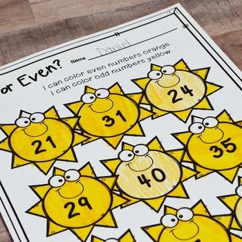 Second Grade Summer Math No Prep Printables {TEKS/CCSS}