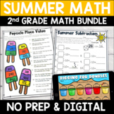 Summer No Prep Math Pack for Second Grade