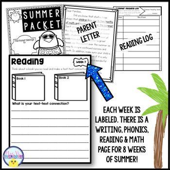 Second Grade Summer Packet: Summer Review for 2nd Graders Entering 3rd Grade