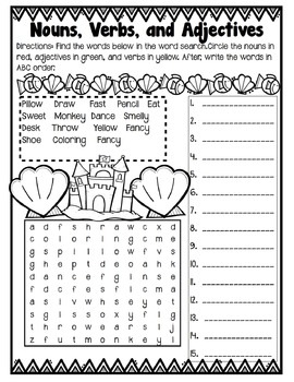 Second Grade Summer Reading Review Packet By Snapshots In
