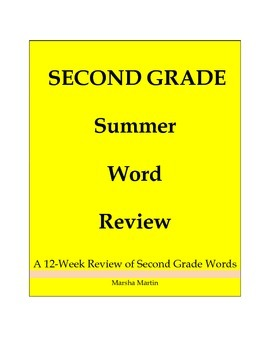 Second Grade Summer Word Review