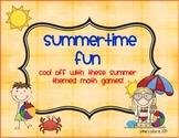 Second Grade Summertime Fun Math Games