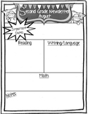 Second Grade Super Kids Monthly Newsletter