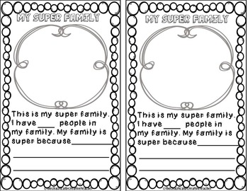 Second Grade Superhero All About Me Booklet { First Day of School }