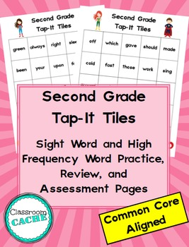 Second Grade Superhero Tap-It Tiles: Sight Word and High F
