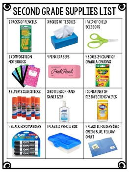Second Grade Supplies List