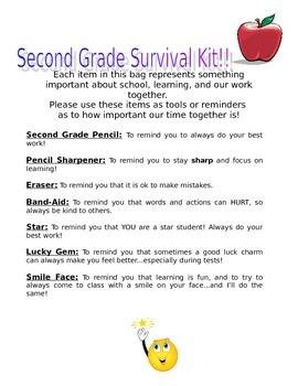 Second Grade Survival Kit