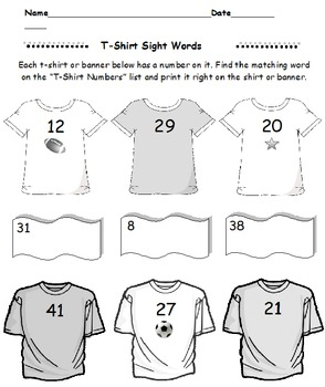 Second Grade T Shirts Sight Words