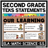 Second Grade TEKS Can and Will Standards Statements Bundle