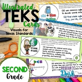 Second Grade TEKS Bundle - Illustrated and Organized Objectives Cards