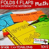 Second Grade TEKS Interactive Math Notebook Folds & Flaps