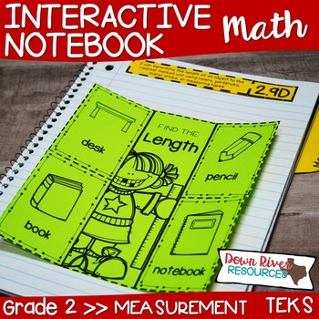 Second Grade Math Interactive Notebook: Measurement (Length, Area, & Time) TEKS