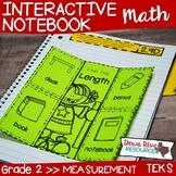 Second Grade Math Interactive Notebook: Measurement (Length, Area, & Time) TEKS