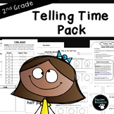 Second Grade Telling Time Resource Pack (EDITABLE!)