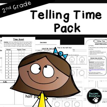 Second Grade Telling Time Resource Pack