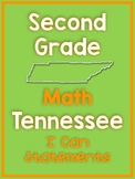 Second Grade Tennessee State Standard Math I Can Posters