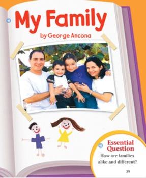 Second Grade Journeys Lesson 2 My Family Assessments Google Docs