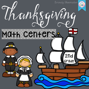 Thanksgiving Common Core Math Centers: Second Grade